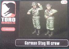 Toro Models Tripulación Cazacarros Alemán Figuras 1/48 en resina.