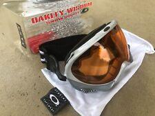 NEW OAKLEY WISDOM SILVER WITH PERSIMMON SNOW SURF MX GOLF SKI SNOWBOARD GOGGLE
