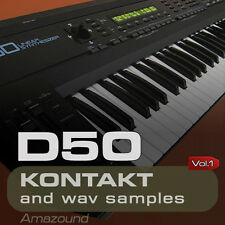 D50 SAMPLES for KONTAKT 128 NKI PATCHES 1024 WAV 24bit MAC PC MPC FL LOGIC VOL1