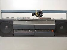 Sony CFS-W301 Sound Rider Cassette Recorder AM-FM Stereo Boombox Tested w/ Video