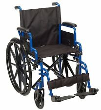 "Portable Streak Wheelchair Folding Lightweiht Transport Travel Mobility Seat 18"""