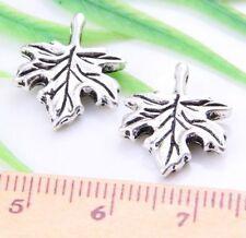 30pcs Tibetan Silver Leaf Spacer Beads 17x13.5mm  (Lead-free)