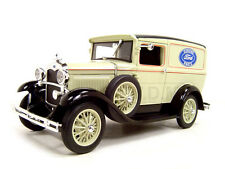 1931 FORD MODEL A PANEL DELIVERY TRUCK TAN 1:18 MODEL CAR SIGNATURE MODELS 18137