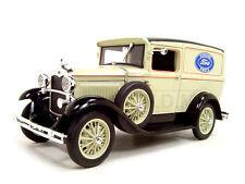 1931 FORD MODEL A PANEL DELIVERY TRUCK TAN 1:18 MODEL CAR SIGNATURE MODELS 18137