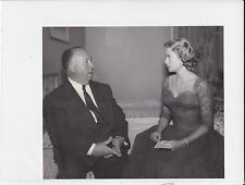 GRACE KELLY & ALFRED HITCHCOCK  ORIGINAL PHOTO 1955  DIAL M FOR MURDER