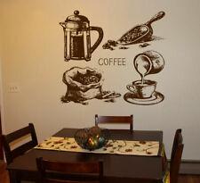 Wall Decal Sticker bedroom coffee break beans kitchen art table breakfast bo2739