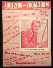 Vintage sheet music - Zing Zing Zoom Zoom - 1950 Perry Como cover