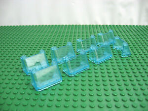 9 LEGO Bulk assorted Windscreen windshields Trans Clear Blue car