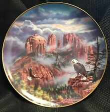 God Bless America Danbury Collectors Plate Untamed Glory Cathedral Rock Arizona