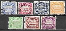 Solomon Islands stamps 1907 SG 1-7  MLH/CANC   VF