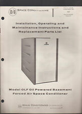 Space Conditioning Systems Installation Manual Oil Burner & Conditioner