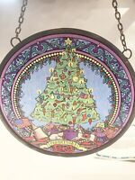 Glassmasters CHRISTMAS TREE TOYS GIFTS Stained Glass Panel 6'' Suncatcher