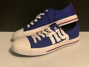 FOCO NEW YORK GIANTS NFL MENS LOW TOP CANVAS SNEAKERS/SHOES SIZE 10
