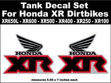Tank decals for Honda XR100 XR200 XR250 XR400 XR500 XR600 XR650L dirtbikes bgr