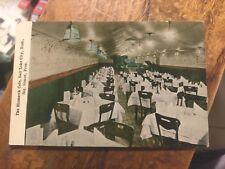 Bismark Cafe  Salt Lake City, Utah  Sig Simon Prop.  Un-posted Divided Back