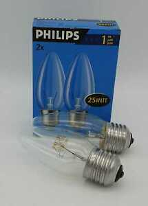 5x Philips Candle Bulb Twin Pack Philips E27- 25watt Clear - 10 Piece