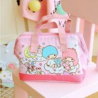 Cute Little Twin Stars Lunch Box Bag Storage Bag Handbag Insulation Picnic Bag