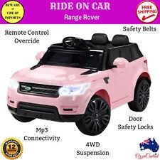 Kids Ride On Car Pink Range Rover Sport Electric Toy Battery Remote Motor 12V