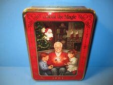 Collectible Oreo 1994 Tin Unlock The Magic Santa Claus Grandfather & Grand Kids