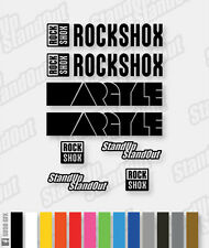RockShox ARGYLE Style Decals / Stickers - Custom / Fluorescent Colours