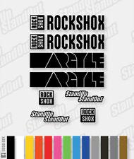 FORCELLA di sospensione RockShox Argyle stile le decalcomanie / gli adesivi - 12 + colori personalizzati