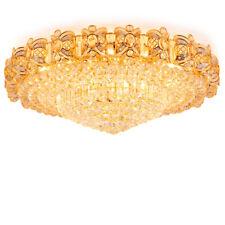 Modern 40cm Crystal Gold Chandelier Flush Mount LED Ceiling Lamp Light Fixture
