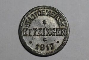 GERMANY WAR MONEY 10 PFENNIG 1917 KITZINGEN B33 #W18