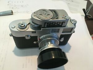 leica m2 vintage camera with Elmar f2.8 lens in good condition