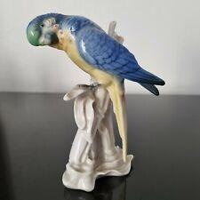 KARL ENS - Sujet Perruche en Porcelaine de Saxe Parfait Etat - Parrot Porcelain
