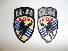 e3560 US Army 1950's Honor Guard 505 Airborne Infantry Regiment Parachute R8D