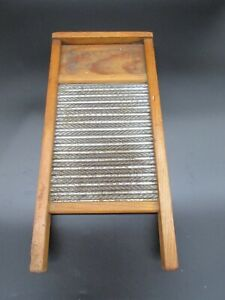 Busy Bee No 16. Washboard Primitive Décor Vintage Zinc And Wood Laundry Antique