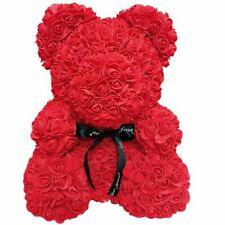 More details for flower bear lovely teddy bear lovers wedding rose bear toy mother's day gift uk