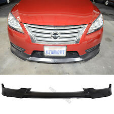 Fits 13-15 Nissan Sentra Front Bumper Lip Spoiler OE Style PU Material
