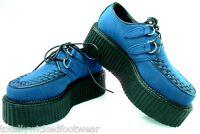 """Creeper 402S Blue Suede Oxford 2"""" Platform Storage Coffin Men Sizes 7-12"""