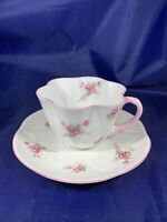 VINTAGE SHELLEY TEA CUP AND SAUCER, FINE BONE CHINA, MADE IN ENGLAND BRIDAL ROSE