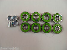 8 X ABEC 11 Scooter Bearings Green Shields