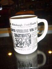 Super Bowl Ix Champs Pittsburgh Steelers Win 16-6 Post Gazette Coffee Mug Mint