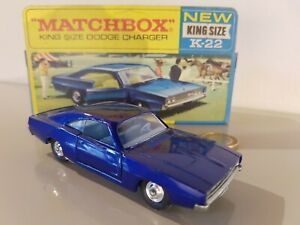 Diecast 1960's Matchbox King Size K-22 DODGE CHARGER mint in box top conditions!