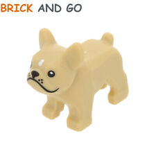 1 x LEGO City 32892 Animal Chien (beige, tan) Dog Bulldog Black Eyes NEUF NEW