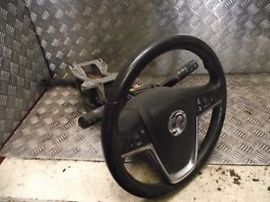 VAUXHALL ASTRA J STEERING WHEEL WITH STEERING COLUMN MOTOR AND SQUIB COMPLETE