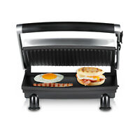 Sunbeam GR8210 Compact Café Grill™ Sandwich Press with Ribbed Top Plate