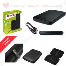 "HARD DISK ESTERNO 2,5"" 3TB TOSHIBA USB 3.0 NERO CON CUSTODIA HDTB330EK3CA"