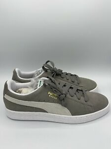 Puma Suede Classic+ Mens Sneakers Shoes Casual Grey White 352634 66 Gray