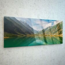 Wall Art Glass Print Canvas New Picture Large Pakistan Lake Siful p127753 125x50