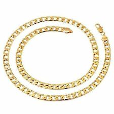 """Boys Cuban Llink Chain Necklace 24.4"""" Yellow Gold Filled Heavy Cool Punk Mens"""