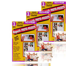 Freez A Frame 2.5 x 3.5 Magnetic Photo Pocket Wallet Size Pack of 3