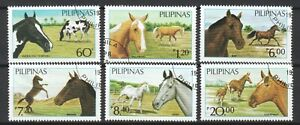 PHILIPPINES 1984 PHILIPPINES HORSES COMP. SET OF 6 STAMPS SC#1747A-1747F IN USED