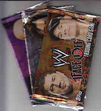 WWE - Wrestling 'Face Off' Trading Card Game Booster Packs (25) by Topps #NEW