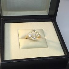 CHOPARD HAPPY DIAMONDS CLOVER YELLOW GOLD RING 82/6956 NEW!!!! $7,510 RETAIL!!!!