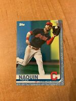 2019 Topps Series 2 - Tyler Naquin - #535 Father's Day Blue Parallel 34/50
